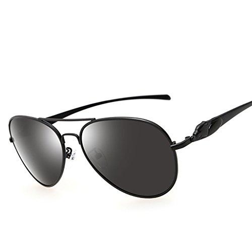 Xiuxiushop Vintage Retro Polarisierte Sonnenbrille Für Männer Outdoor-Sport Ultraleichte Metallic Metallrahmen HD Objektiv Gläser Air Force Unisex UV 400 Schutz (Color : D)