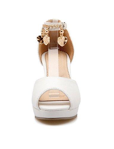 UWSZZ IL Sandali eleganti comfort Scarpe Donna-Sandali-Formale / Casual / Serata e festa-Spuntate / Plateau-Quadrato-Finta pelle-Blu / Rosa / Bianco Pink