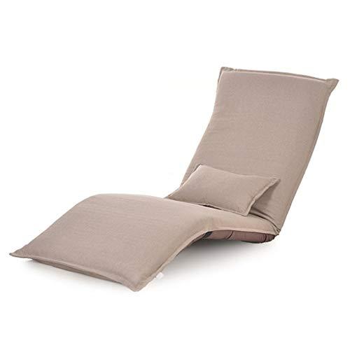 Lazy sofa Set divani Divano Letto Pigro con più Regolabili per Il Tempo Libero Cuscini Pigri Cuscini Sedile Materasso Futon, Pieghevole (Color : Khaki, Size : 180 * 60 * 10cm)