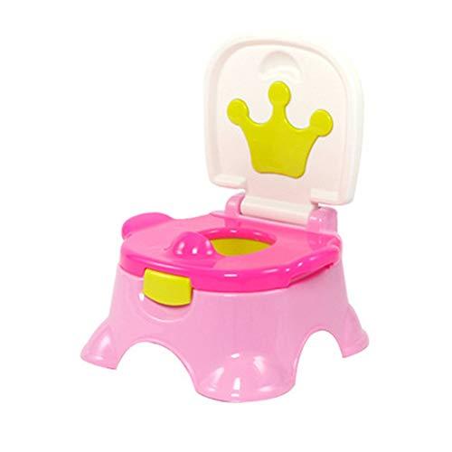 RLF LF 3 in 1 Mehrzweck Baby Töpfchen Kinder Krone Kleiner Hocker Toilleten Sitz Jungen und Mädchen Töpfchen-Trainingssitz mit Griffen Abnehmbar Rutschfest Säugling Klein Toilettenschüssel,Pink - Krone Sitz