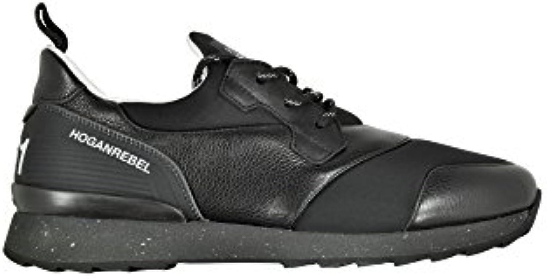 Hogan Rebel Herren HXM2610U390D8D0XCR Schwarz Stoff Sneakers