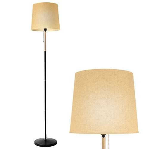 DECKEY Lampada da Terra,Lampada da Pavimento E27, Paralume Classico Semplice per Soggiorno, Ufficio, Camera da Letto,Studio