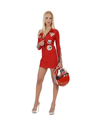 Horror-Shop Sexy Racer Girl Kostüm Rot S 36-38