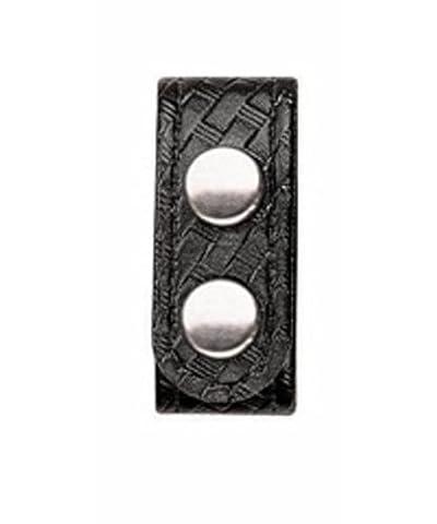 Bianchi Accumold Elite 4-Pack 7906 Chrome Snap Belt Keepers (Basketweave Black) by Bianchi AccuMold Elite