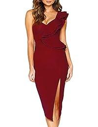 4f4be7f355465 Suchergebnis auf Amazon.de für: rotes asymmetrisches kleid: Bekleidung