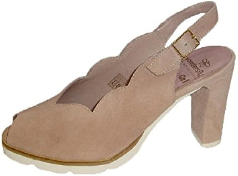 WYYY Zapatos De Mujer Temporada De Verano Bloque De Bajo Talón Color Puro Hebilla De Palabra Apuntado Zapatos... -