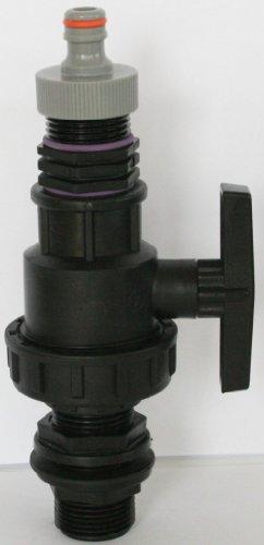 'amtdvn _ 9482 + 99 cuve Exécution avec écrou-raccord 1 et boule plastique robinet + mamelon double fiche et convient pour Gardena, IBC Adaptateur de réservoir d'eau de pluie de Accessoires de conteneurs Mamelon de Bidon