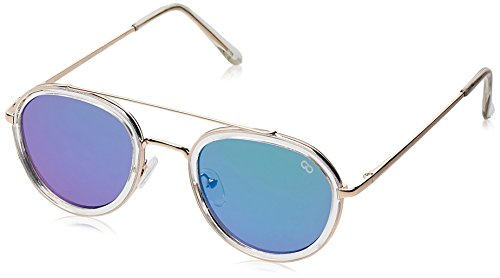 Gio Collection UV Protected Round Unisex Sunglasses - (VS181 C.4 GRY|58|Grey lens)