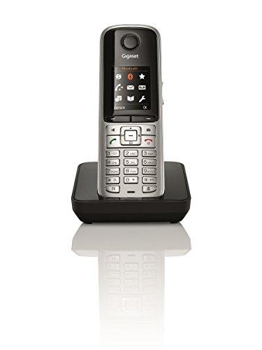 Gigaset S810H Telefon – Schnurlostelefon / Universal Mobilteil – mit Farbdisplay – Dect-Telefon – schnurloses Telefon / Freisprechen / Router – kompatibel, platin