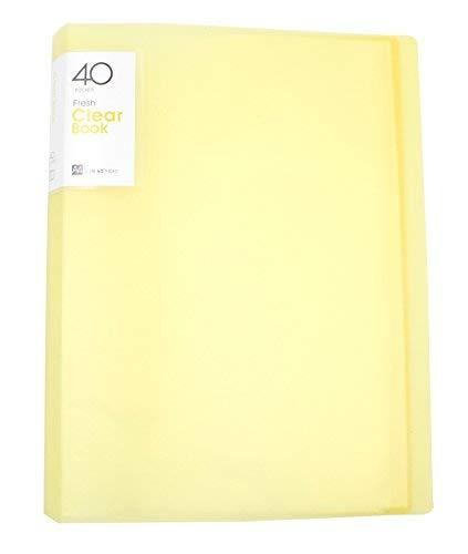 Klar Datei Ordner Organizer Binder Büro Schulbedarf Papier der für A4, 40Blatt gelb -