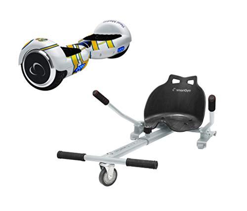 SmartGyro X2 Real Madrid con Go Kart White - Pack Hoverboard y Kartt (Ruedas de 6.5', Certificado...