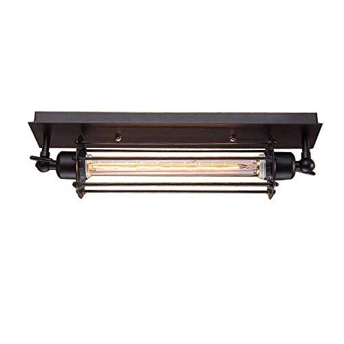 Vendimia Rústico Lámpara techo Negro Planchar Retro