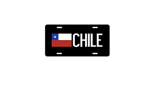 Chile Chilean Flag Gifts Custom Personalized Aluminum Metal Novelty License Plate Cover Front Auto Car Accessories Vanity Tag 6x12 Inches