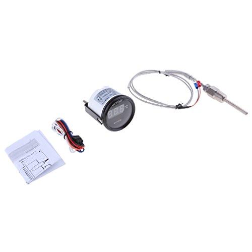 perfk Zusatzinstrument Abgastemperaturanzeige Digital-Analog-geführte Abgastemperatur Temperatur Schalttafel - # 1