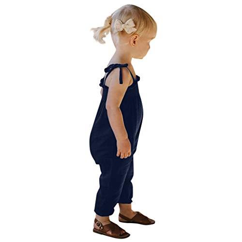 hen Sommer Strampler Ärmellose Sling Overall Kleidung Einfarbig Einfach Romper Freizeit Outdoor Süß Jumpsuit Bodysuit Mode Weste Cool Strampler Babykleidung ()