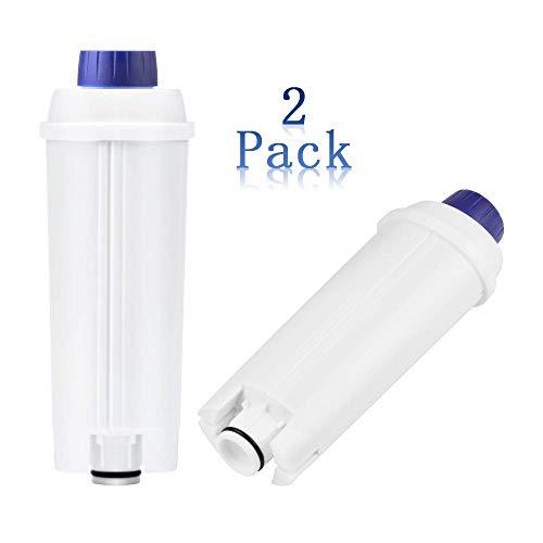 2er Wasserfilter für Delonghi Kaffeevollautomaten Filterpatronen Zubehör kompatibel für De'Longhi Kaffeemaschinen ECAM ESAM BCO EC ETAM usw. Weiß