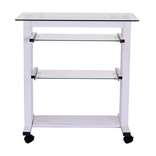 HU ZHANG Einfacher Computertisch, Stilvoller Computertisch, Heimcomputertisch, Computertisch Schreibtisch PC Schreibtisch Weiß Hauptdekoration