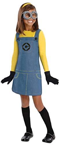Jungen Mädchen Kinder Minion Ich - Einfach Unverbesserlich Offiziell Lizenziert Büchertag Halloween Kostüm Kleid Outfit - Mädchen, 3-5 Years