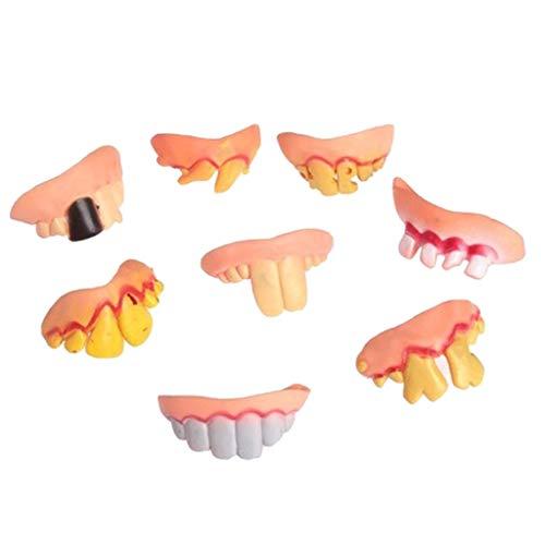 Kostüm Lustige Streiche - Fenteer 8stk. Lustige Zähne Streich Spielzeug Cosplay Kostüm Zubehör, aus Latex