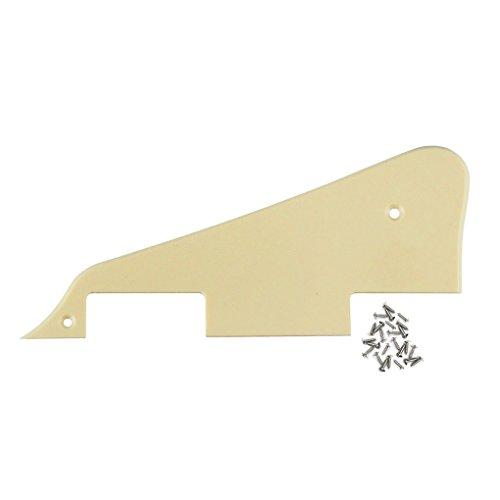 ikn-1-ply-pickguard-crema-piatto-della-graffiatura-per-gibson-les-paul-lp-chitarra-con-viti