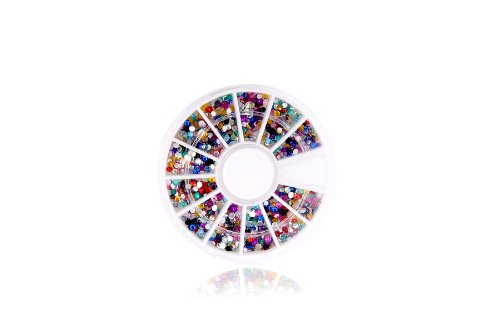 Glow Décoration d'ongle d'art, 900 Round Rhinestone Wheel