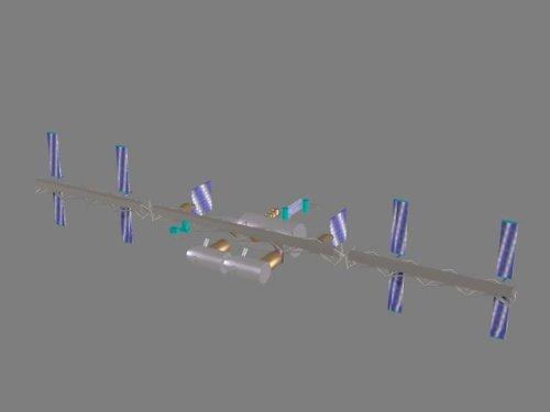 Modell Satellite (Satellit 08 - 3D-Modell (Satellite 08 - 3D-Model) - für PC und MAC)