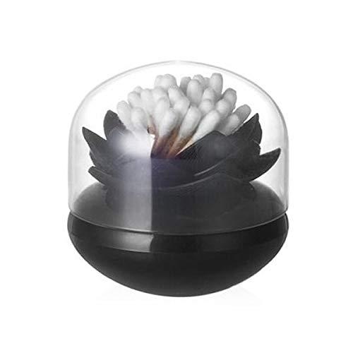 Preisvergleich Produktbild Unbekannt Qualy QL10157B-B Wattestäbchen Aufbewahrung Lotus Cotton Bud Holder,  schwarz