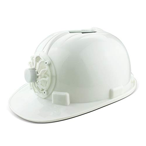 JiaoLiao Sommer Baustellenhelm mit Solar Fan Cap Helm Anti-Smashing (Farbe : Weiß) Smashing Jet