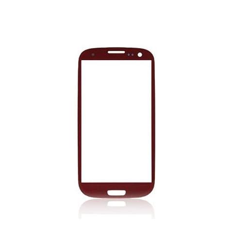 BisLinks® Rot Front Glas Ersatz für Samsung Galaxy S3