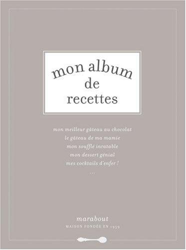 Mon album de recettes