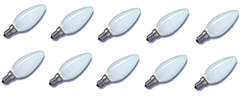 10 x Glühlampe Glühbirne Kerze E14 25W 25 Watt matt 230V Leuchtmittel