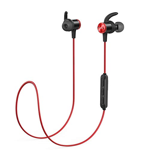 Soundcore Auricolari Sportivi Spirit, Cuffie da Anker, con Bluetooth Senza Fili, Autonomia Batteria Fino a 8 Ore, Tecnologia SweatGuard IPX7, vestibilità sicura per Lo Sport e Allenamenti