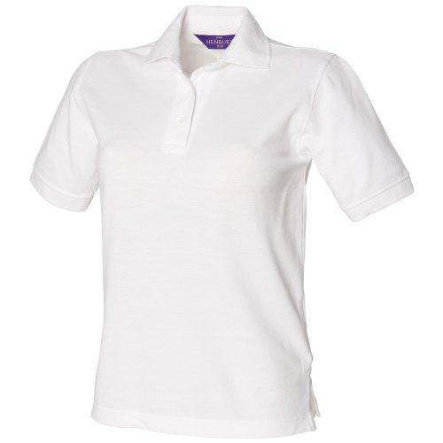 Polo à rétention de forme Henbury pour femme Blanc - Blanc