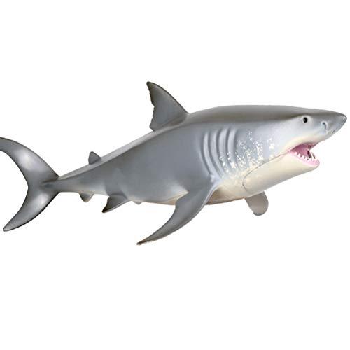 FLORMOON Spielzeuge Großer weißer Hai Wal-Figur Realistisch Handgemalt Hai-Figur Tiere Actionfiguren Dekorative Sammlung Geschenk für Kinder