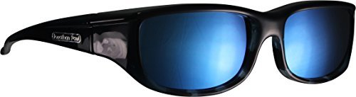 b6fc85e710bd Euroka Blue Ebony - Polycarbonate Polarized Gray with Blue Mirror Lens  Coating by Jonathan Paul Eyewear
