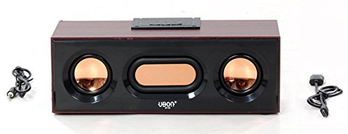 UBON BT-30 Wireless Portable bluetooth Speaker Sound Bar Premium Stylish Easy to Carry Handy durable material Compatible with smartphone tablet LED LCD CRT TV Laptop Computer Clear Sound Big Daddy Bass Support with TFT card USB, WAV player and WFA 6 hours battery back up