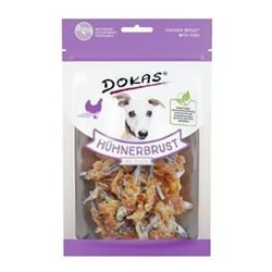 Dokas Hunde Snack Hühnerbrust mit Fisch | 8 x 70 g Hundesnack