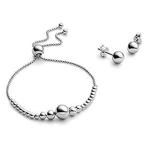 Pandora Damen Schmuck-Set Armband und Ohrringe B801036