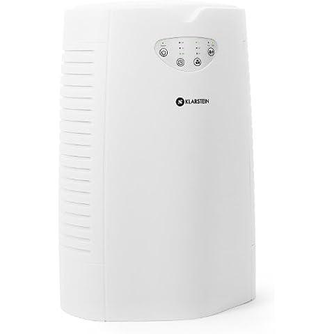 Klarstein Vita Pure purificador de aire (ionizador, intensidad ajustable, filtro de carbón activo para un entorno adecuado para alérgicos, lámparas UV, temporizador) - blanco