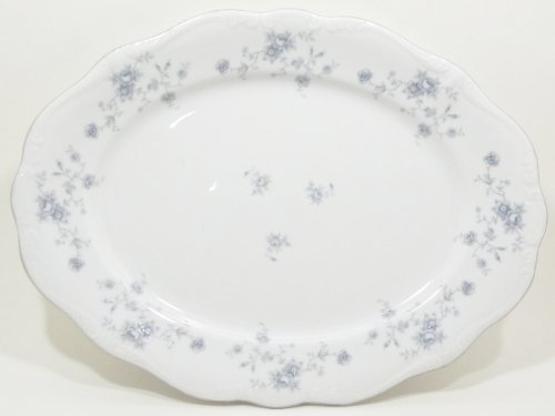 Vintage Johann Haviland Bavaria Germany Blue Garland Pattern 9 1/2 X 13 Serving Tray by Johann Haviland Bavaria Germany Johann Haviland Bavaria Germany