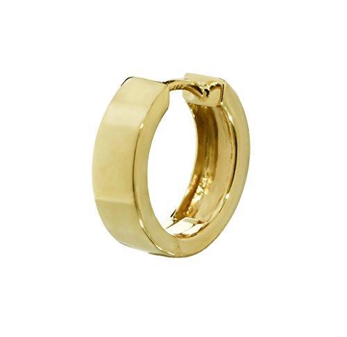 NKlaus Single 333 Gelbgold Klappcreolen Ohrringen 14,3 x 4,2mm glänzend Quadratisch 4753 (4.2 Single)