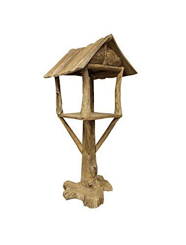 Meubletmoi - Caseta para pájaros de Teca – Decoración de jardín, terraza de Madera – Casa
