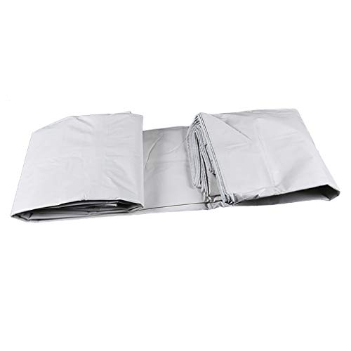 Plane Regenfestes Tuch Punsch Schatten Sonnencreme Stoff Auto-Wagen Baldachin Tuch Doppelseitig Weiß 140G / M2 (größe : 6M*8M) (Baldachin Wagen)