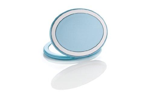 Miroir sac à main ovale BLEU