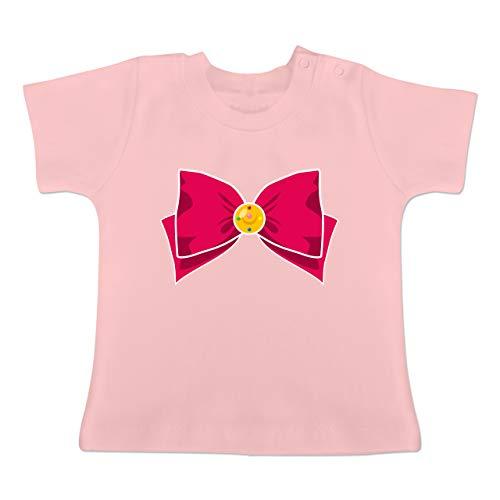 Karneval und Fasching Baby - Superheld Manga Moon Kostüm - 12-18 Monate - Babyrosa - BZ02 - Baby T-Shirt ()