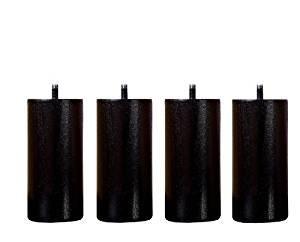 Colori Vernici Legno : 4 piedi di letto legno massiccio colore vernice naturale 10 cm nero