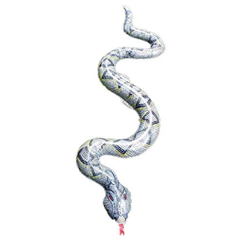 Toyvian Aufblasbares Schlangenspielzeug Halloween Tricky Creepy Prank Scary Schlangenspielzeug 120cm lang (Schwarzgrau)