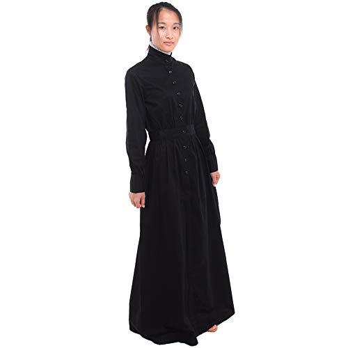 Girl Renaissance Kostüm - GRACEART Pionier Damen Kostüm Prärie Kleid (Large, Reine Baumwolle)