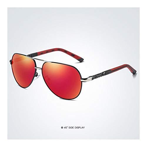 HD polarisierte Retro- große Marken-Frauen-Designer-Sonnenbrille, welche die Sonnenbrille der Männer fährt (Lenses Color : Green)