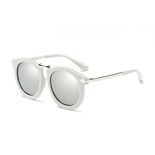 YUBIN Sonnenbrille Weibliches Gezeiten- Rundgesicht Polarisierte Leuchte Sonnenbrille Antriebsgläser Quadratisches Gesicht Männlich (Farbe : A) - Konvexe Leuchte
